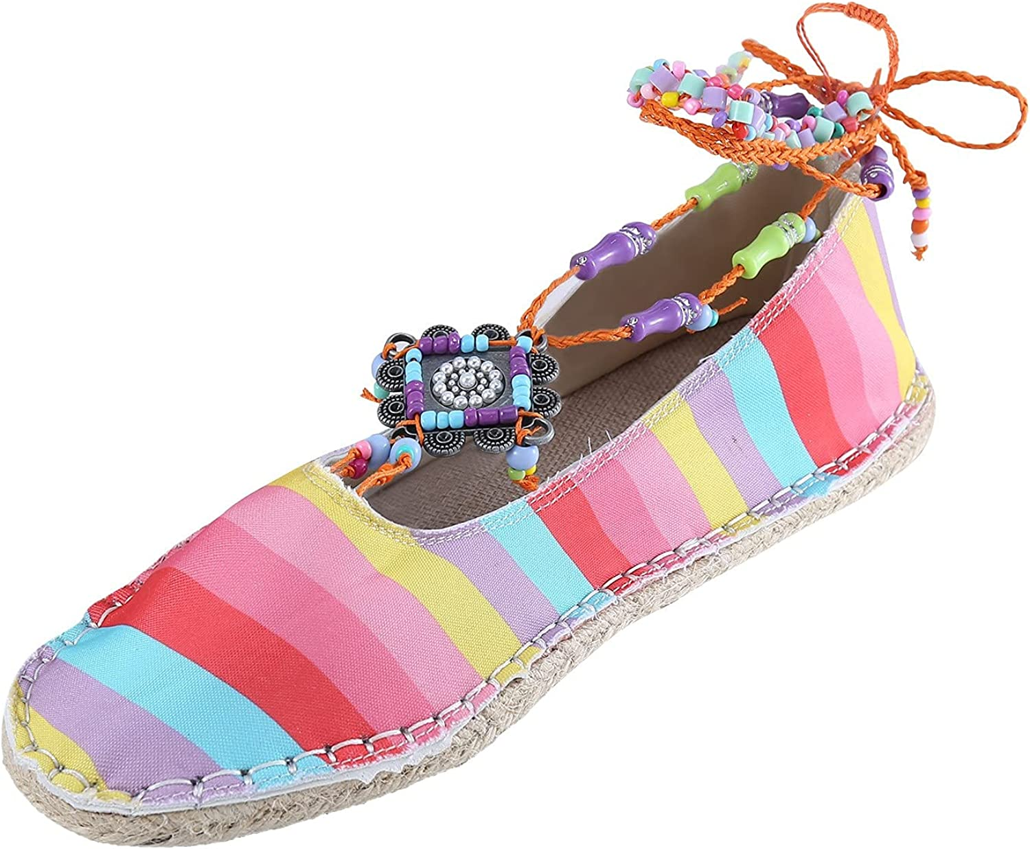 Women's Bohemian Style Loafer Flat On Limited time trial price Save money Driving Slip Canvas