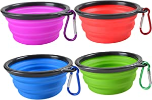 Collapsible Silicone Portable Foldable Water Bowls