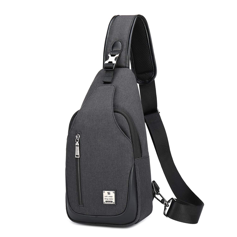 weiatas ショルダーバッグ 斜め掛けバッグ メンズ 軽量撥水 大容量 iPad mini収納可能 多機能レジャーバックパック 旅行 通勤 通学