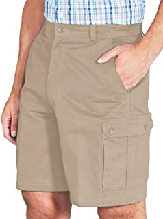 Mens Cotton Cargo Shorts with Side Elastication