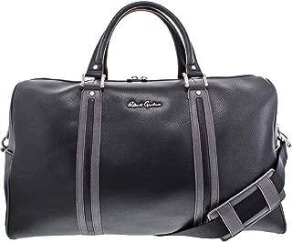 Robert Graham Siran Men's Leather Signature Convertible Weekender Duffle Bag