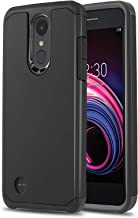 Phone Case for [LG Rebel 4 / LG Rebel 3 / LG Rebel 2], [DuoTEK Series][Black] Shockproof Cover for LG Rebel 4, Rebel 3, Rebel 2 (Tracfone, Simple Mobile, Straight Talk, Total Wireless)