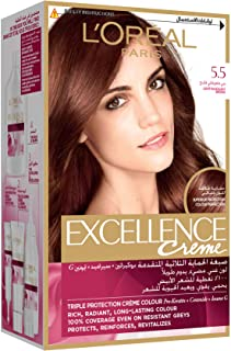 L'Oreal Paris Excellence Creme 5.5 Mahogany Light Brown Haircolor100 gm