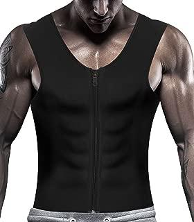 IFLOVE Men's Body Shaper Hot Sauna Vest Sweat Slimming Tank Top with Zipper for Weight Loss Neoprene