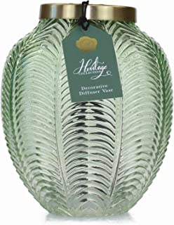 Ashleigh & Burwood The Heritage Collection Glass Reed Diffuser Large Empty Vase Green