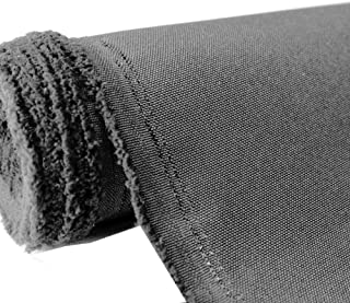 Waterproof Canvas Fabric Outdoor 600 Denier Indoor/Outdoor Fabric by The Yard PU Backing W/R, UV, 2times Good PU Color : Coal 1 Yard