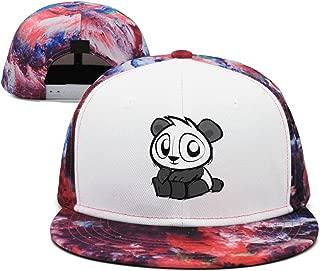 Artisfive Cropped Opem Cute Oh Panda Eyes Camo Flat Bill Baseball Cap Trucker Snapback