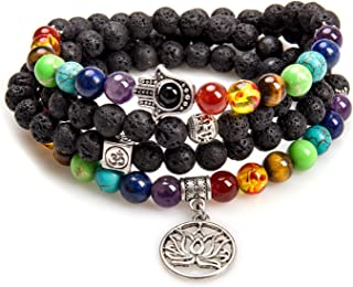 Mala Beads 108 Necklace Meditation Prayer Bead Tree of Life Chakra Stones Tibetan Bracelet