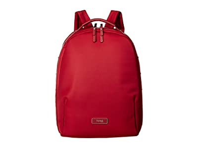 Lipault Paris Business Avenue Medium Backpack (Garnet Red) Backpack Bags