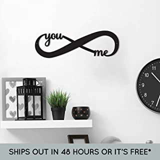 Metal Infinity Sign - You and Me Sign - Indoor or Outdoor Metal Sign - Metal Home Decor - Wedding Gift - Anniversary Gift - Housewarming