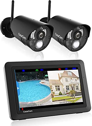CasaCam VS802 Wireless Security Camera System with AC...