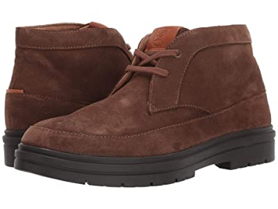 Stacy Adams Amherst Moc Toe Chukka Boot (Dark Tobacco Suede) Men