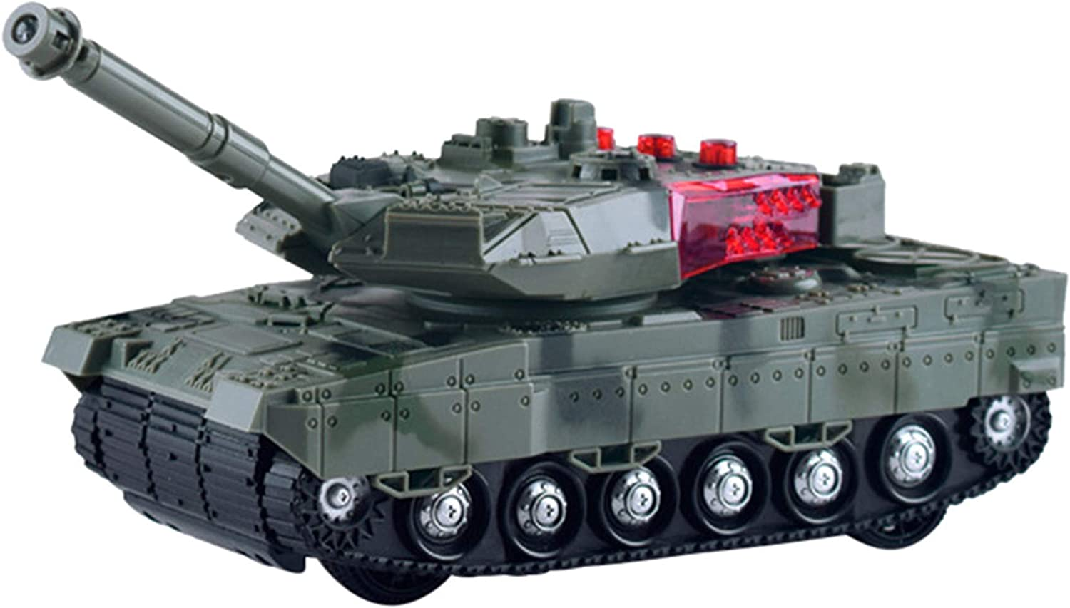 nueva gama alta exclusiva Happy Event tanque Depósito mando a distancia mini mini mini tanque RC rojoating Turret realistas Sounds & Light  60% de descuento