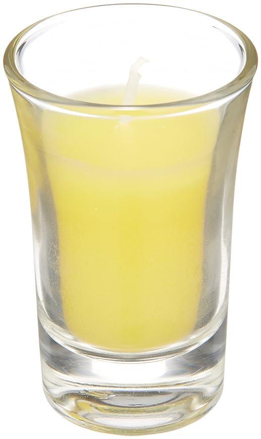 骨折やむを得ない構成ラナンキュラスグラスキャンドル 「 イエロー 」
