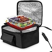 DONN Boîte à Lunch chauffante électrique, boîte à Lunch pour Four Chauffe-Plats de Voiture 12V 90W Inoffensif Simple et Pr...