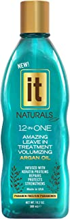 IT Naturals 12-in-ONE Amazing Volumizing Leave In Treatment with Argan Oil, 10.2oz   Repairs, Protects & Strengthen Hairs   Creates Volume   Fights Frizz   Paraben Free