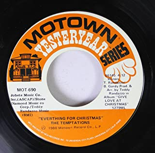 Silent Night / Everything For Christmas 45 rpm vinyl record by The Temptations