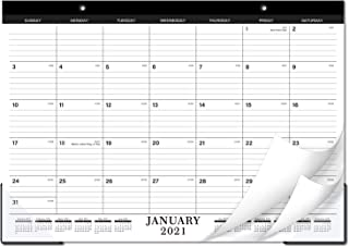 "Desk Calendar - Desk/Wall Calendar with Transparent Protector, Standard, 17"" x 12"", Perfect for Daily Schedule Planner, Ru..."