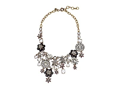 J.Crew Starflower Collage Necklace (Crystal) Necklace