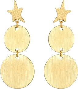 Rebecca Minkoff - Star Girl Medallion Double Drop Earrings