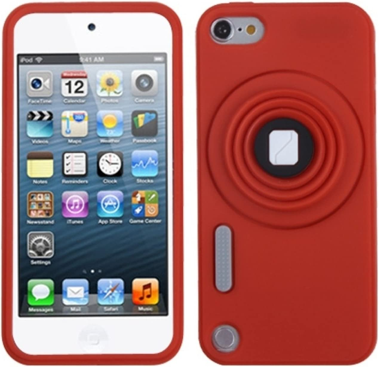 Asmyna Red Our shop most popular Camera Style Stand Pastel Cheap bargain Skin with Lanyard Cover for