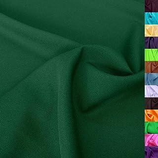 TOLKO TOLKO Modestoff | Dekostoff universal Stoff zum Nähen Dekorieren | Blickdicht, knitterarm | 150cm breit Meterware Dunkel Grün Bekleidungsstoffe Dekostoffe Vorhangstoffe Nähstoffe Basteln Patchwork Deko
