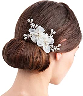 SWEETV Ivory Wedding Hair Comb for Women Birdal Hair Accessories for Brides Jewelry Headpiece