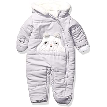 Footed Ivory Bear Carters Baby Girls Bundle Up Cozy Pram with Ears 3//6 Months