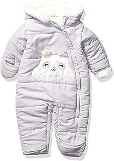Carter's Baby Girls Pram Suit, Gray Panda, 3/6 Months