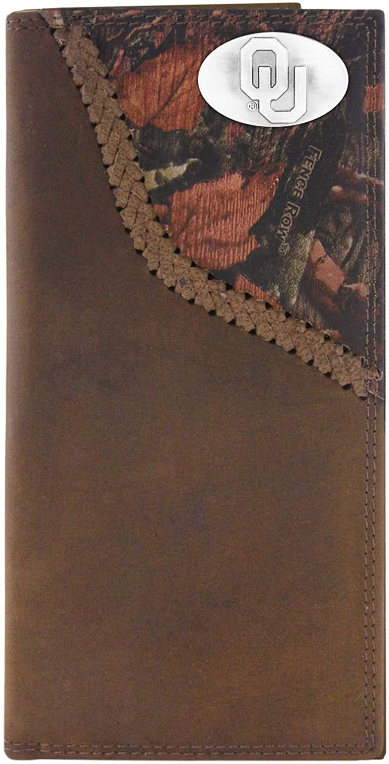 NCAA Ranking TOP16 Super Special SALE held Oklahoma Sooners Camouflage Leather Concho On Wallet Roper
