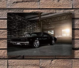 dayanzai Dodge Charger 1969 Fast and Furious Super Car Poster Art Canvas Print Decoration-50x70cm-No Frame