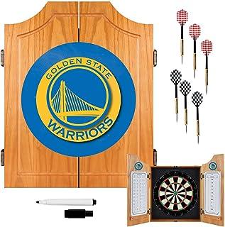 NBA Golden State Warriors Wood Dart Cabinet Set