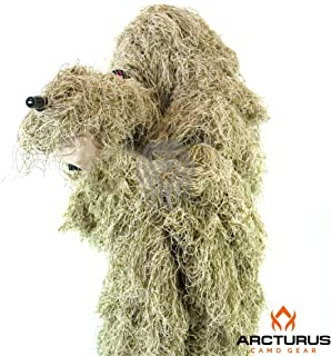 Arcturus Ghost Ghillie Suit | Super-Dense, Double-Stitched Design | Advanced 3D Hunting Gear for Men, Military, Snipers, Hunters, Airsoft