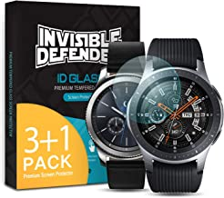 Ringke Invisible Defender Glass 4 Pack Compatible with Galaxy Watch 46mm, Gear S3 Tempered Glass Screen Protector, Ultimate Clear Shield, High Definition Quality, 9H Hardness Technology