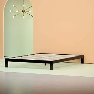 Zinus Arnav Modern Studio 10 Inch Platform 2000 Metal Bed Frame / Mattress Foundation / No Box Spring Needed / Wooden Slat Support / Good Design Award Winner, Queen (Renewed)