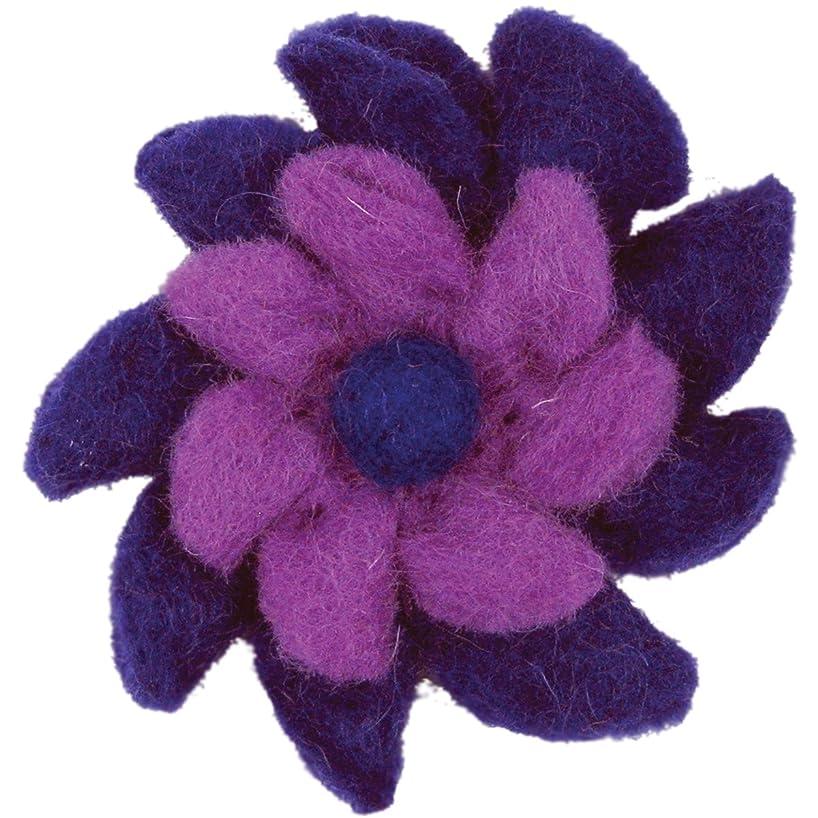 Dimensions Felt Embellishments, Purple Pinwheel Flower