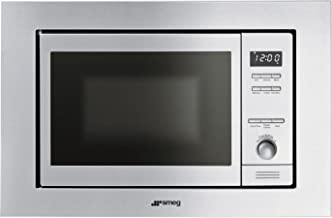 Smeg MI20X-1 Integrado 20L 800W Acero inoxidable - Microondas (Integrado, 20 L, 800 W, Botones, Giratorio, Acero inoxidable, 1000 W)