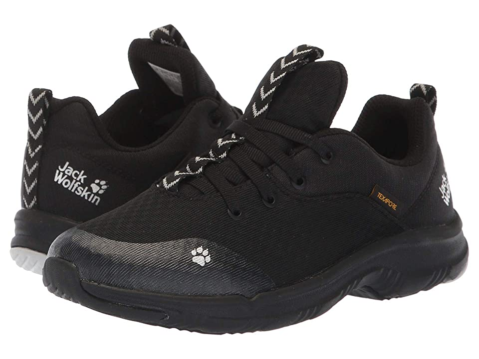 Jack Wolfskin Kids Phoenix Texapore Low (Toddler/Little Kid/Big Kid) (Black) Kids Shoes