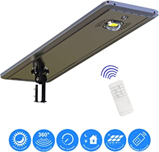 30W Superior Solar/Hybrid Energy Efficient LED Ultra-Powerful Self-Contained Smart Commercial Residential Lighting w/Mounting System & Remote Control for Building Parking Lots Bike Path Street