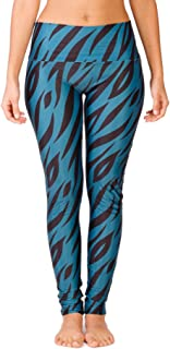 Limber Stretch Women's Printed Yoga Pants, High Waisted Long Full Length Workout and Running Leggings