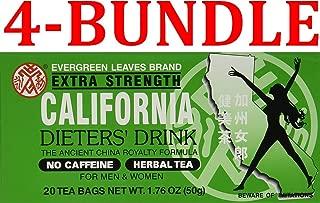3 BOXES CALIFORNIA DIETERS' DRINK EXTRA STRENTH TEA 1.76 OZ. (1.76 OZ (4-Bundle))