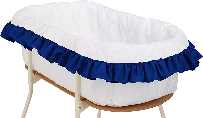 Bkb Solid Color Bassinet Bumper Royal Blue Large