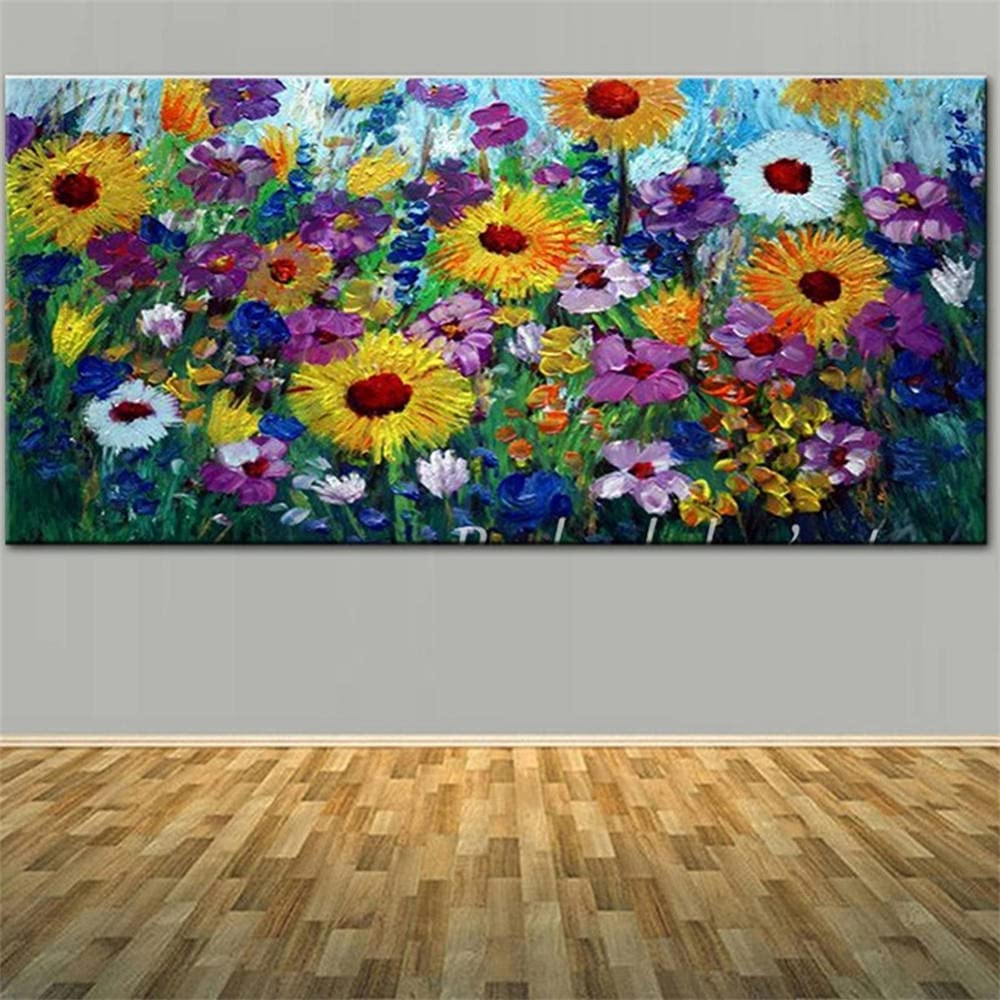 DIY Max 60% OFF Factory outlet 5D Large Diamond Painting by Colorful Number Flowers Kits Ad