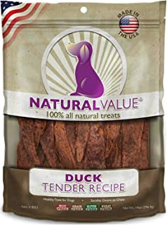 Loving Pets Natural Value Soft Chew Duck Tenders Dog Chews, 16 Ounce, 6 Pack