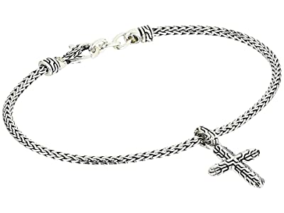 John Hardy Classic Chain Cross Charm on 2.5 mm Mini Chain Bracelet with Lobster Clasp (Silver) Bracelet