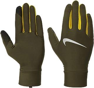 NIKE Mens Lightweight Tech Running Gloves 327 olive canvas/bright c heren handschoenen
