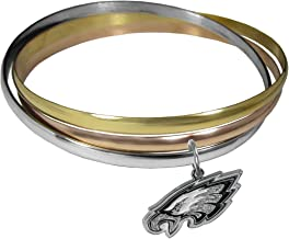 NFL Philadelphia Eagles Womens Tri-color Bangle Bracelet