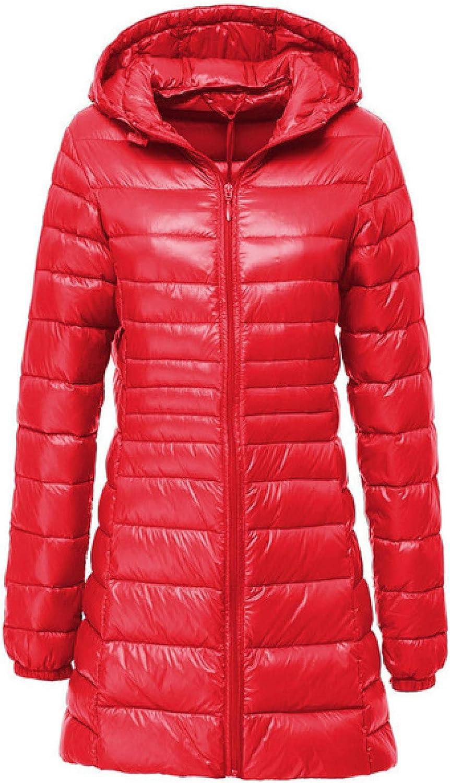 Female Lightweight Long-Sleeve Full-Zip Water-Resistant Down Jacket
