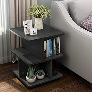 Tribesigns Modern Side End Table for Living Room, 3 Tier Bedside Table Night Stand with Wheels and Storage Shelf for Bed R...