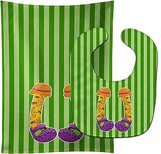 Caroline's Treasures Halloween Witch's Feet No. 3 Baby Bib & Burp Cloth, Multicolor, Large